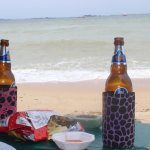 Enjoying Bear at Pattaya Beach.
