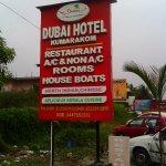 Sign board near Hotel Dubai