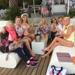 The 'Hen Party' the day before at the Beach Bar!