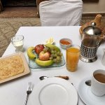Breakfast Service - offered omelets as well!