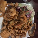 Mixed fried seafood platter