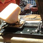 Raclette in the Alps.
