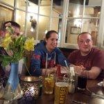 My family enjoying the food at The Jubilee Inn.