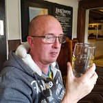 Hubby was pleased with his pint.