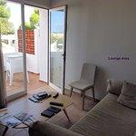 Suite - Sitting area with balcony access door