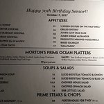 Philip called Morton's and had them provide a special menu for our event.