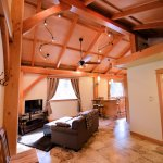 Hayloft a private timber-frame cottage - living room