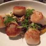 A generous serving of amazingly seared scallops that tasted like what a true scallop is supposed