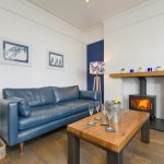 Front quiet lounge with woodburner