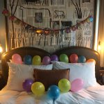 Birthday surprise in the room!