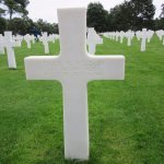 Just a few of the thousands of grave markers at the American Cemetery in Normandy