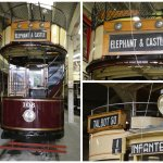 Detail of some of the trams in the museum sheds.