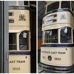 Peek-a-boo! A vintage Sheffield tram.