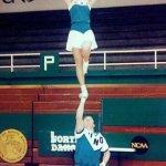 UND Campus: Cheerleaders in the Hyslop Sports Center
