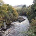 Killiecrankie - River Garry (downstream) from the village bridge. October 2017