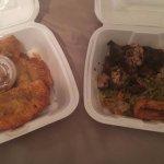 Fataya and Jerk Chicken