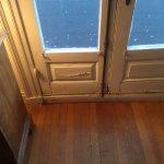 Door to tarpaper terrace