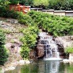Brücke über den Wasserfall