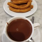 Hot chocolate and churros