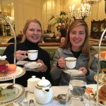 Enjoying high tea wh our daughter