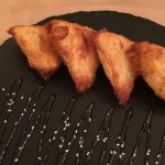Fried greek cheese with honey