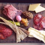 Charcuterie board at lunch
