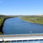 View of North Saskatchewan River to the West
