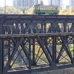 View from Ezio Farraone Park - checking the rails