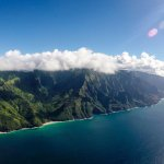 It's pretty easy to lose perspective from so high up. The Na Pali Coast looks tiny.