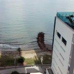 vista de la playa de bocagrande desde la habitación
