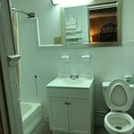 New Vanity ,New Toilet ,Mirror and Art Work