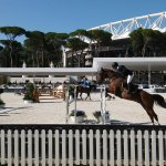 Inside Stadio dei Marmi, Olympic one in background