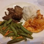 The second course of the dinner served on the Branson Belle