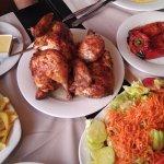 Pollo a la brasa completo mas pimiento asado