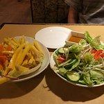 Mango salad and garden salad