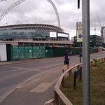 Wembley Stadium is next door
