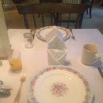 Every setting had its own distintive china & cutlery pattern,