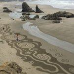 Amazing walkable sand labyrinth!