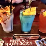 Flight of rum drinks