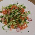 Spiced salmon tartare