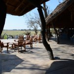 The main reception and dining area, with a great view
