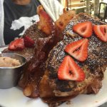 French Toast with strawberries and cinnamon butter