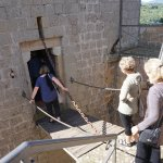 You had to walk the draw bridge to the top of the castle
