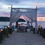 This is the romantic dinner on the beach