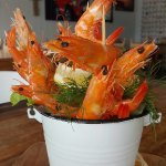 Yummy bucket of prawns