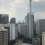 KL city skyline taken from room window on 26th floor