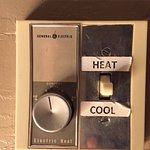 Wall switch to control the A/C and Heating. What a joke!