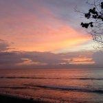 coucher de soleil depuis le restaurant