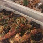 """Amazing """"pacchetti"""" with sea food and pasta alla norma!"""