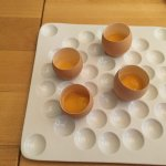 Egg shell made to look like raw eggs .....filled with surprises ... really a Yum Yum start
